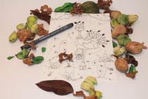 Illustration de Sidonie l'autruche illustrée par Cloé Perrotin