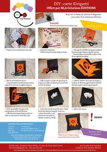 Aperçu page 2 du DIY pas à pas gratuit de l'illustratrice Cloé Perrotin pour créer une carte Kirigami dragon