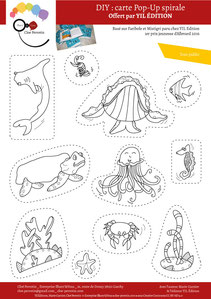 Aperçu page 4 du DIY pas à pas gratuit de l'illustratrice Cloé Perrotin pour créer une carte Pop-Up spirale