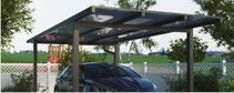 Aluminium-Einzelcarport Typ D mit Flachdach - Direkt zum Konfigurator mit Preis