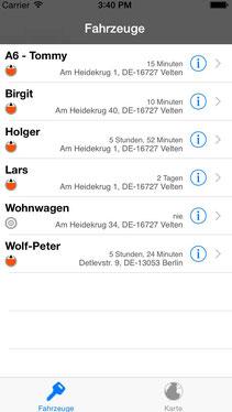 GPS Ortung PKW mit iPhone APP