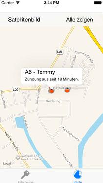 GPS Ortung Baumaschinen mit iPhone APP