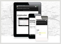 Mobile Arbeitszeiterfassung via Handy,Smartphone, Tablet