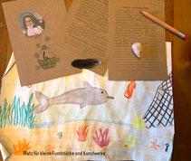KartenA& zum Beschriften mit Erinnerungen. Platz für kleine Gegenstände und  Kinderkunstwerke in  Box A6, nachhaltig produziert