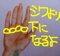 正しい指の関節を示した画像