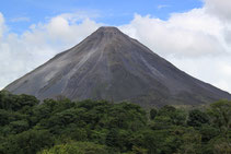 Volcano view from Athica Canopy Tour