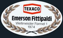 Texaco welmeister 1974 formel 1 Emerson Fittipaldi
