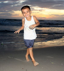 Teddy der Strand-Tester
