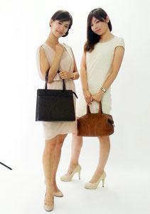 ブランド買取販売SHOP「銀蔵」オンラインマガジン9月号の撮影風景,ユキエ&クミコクミコ