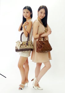 ブランド買取販売SHOP「銀蔵」オンラインマガジン9月号の撮影風景,ジュン&メグミ