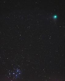 Komet Machholz bei den Plejaden , 420mm