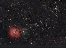Trifid-Nebel M 20 und M 21 oben