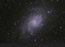 M 33  - 1200mm , Dreiecksgalaxie