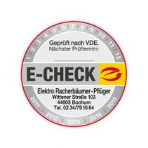 E-Check Prüfsiegel für elektrische Geräte und Anlagen im Haushalt