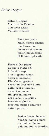 Poesie Di Natale In Dialetto Siciliano.La Settina Della Madonna Del Rosario Benvenuti Su