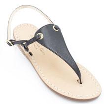 sandali artigianali neri bassi