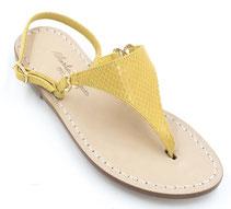 sandali gialli infradito ischia