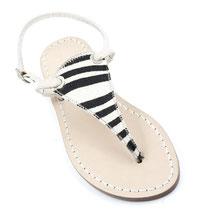 sandali artigianali zebrati