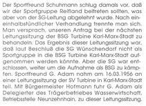 Bild: BSG Turbine Wünschendorf Teichler Heinritz