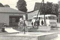 Bild: Buswendeplatz Wünschendorf Erzgebirge