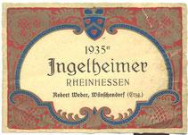Bild: Wünschendorf Robert Weber Flaschenetikett