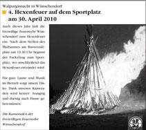 Bild: Wünschendorf Chronik 2010
