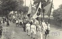 Bild: Teichler Wünschendorf Sportplatz 1953