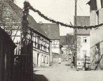 Bild: Teichler Dorftraße Wünschendorf 1935