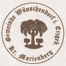 Bild: Teichler Gemeindesiegel Wünschendorf Erzgebirge Kreis Marienberg