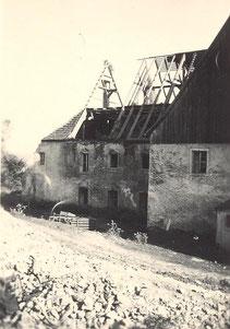 Bild: Teicher Wünschendorf Rittergut Abriß