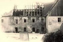 Bild: Rittergut Wünschendorf Teichler Abriß