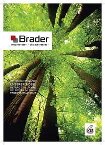 Titelseite BRADER Broschüre 12-Seiter