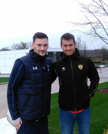 Hugo Lloris et Jonathan Domergue (Tottenham 2016)