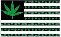 US Marijuana Legalization Flag