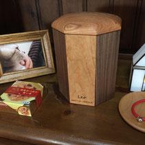 ペットの木製骨壷 M様邸 レオ君(アメリカンショートヘア)3号寸