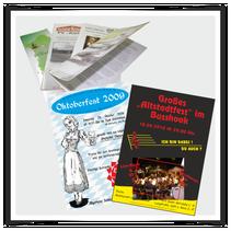 Flyer, Faltblätter, Plakate, Folder, Broschüren, Magazine