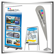 Roll-UP Banner Kundenstopper Beachflag