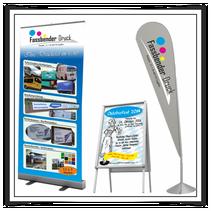 Roll-UP Banner Kundenstopper Beachflag