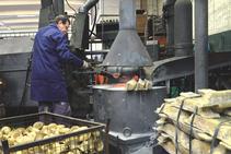 1,083℃の溶融温度による黄銅合金融合。