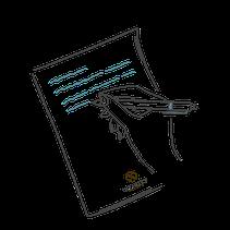 Zettel und Stift Icon