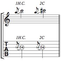 譜面 1音半チョーキング/2音チョーキング