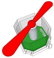 Cube-Dのモーターブロック