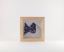 cadre mural origami poisson, chambre d'enfant cadeau naissance