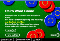 Homophones - Another memory pairs game