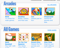 A variety of games as well as some online books and comics