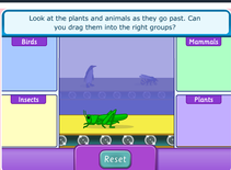 A range of exciting games on a variety of science topics