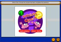Homophones - Using the correct vocabulary game