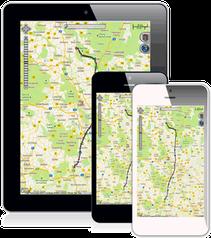 Auto-Ortung auf dem Smartphone, Tablet, Desktop, PC