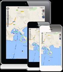 Verschiedene Zugangspunkte zur Boots Ortung sichern die Handlungsfähigkeit (PC, Web, Smartphone, Tablet)