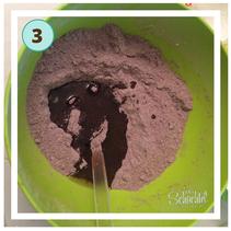 Schritt 3 für den unteren Teil der Schokoladeneis Badebomben